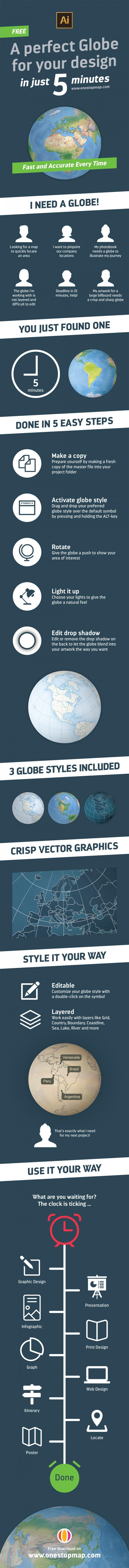 A Perfect Globe For Your Design In Just 5 Minutes